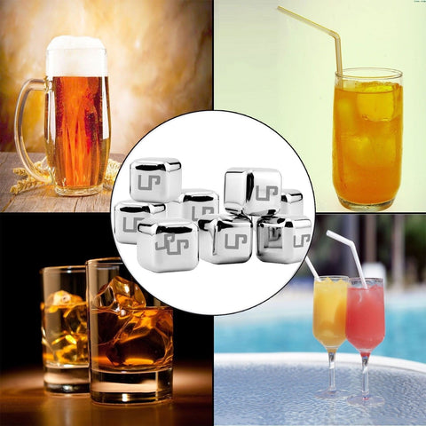 LP Whiskey StonesStainless Steel Ice Cubes Drink Coolers ...