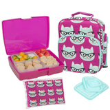Bentology Lunch Bag and Box Set for Girls - Includes Insulated Bag with Handl... - Chickadee Solutions - 1