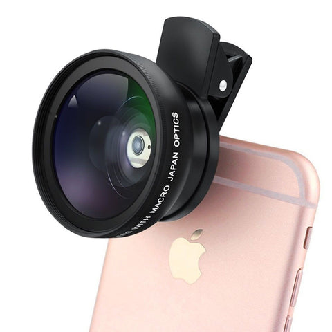 Kingtoss Universal Professional HD Camera Lens Kit with 0.45X Super Wide Angl... - Chickadee Solutions - 1