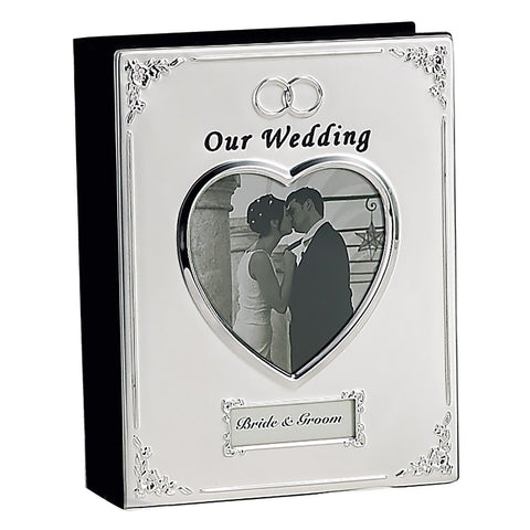 SILVER PLATED WEDDING ALBUM - Photo Album Elegance Silver - Chickadee Solutions