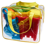 Beach Toy Set in Reusable Zippered Bag with Mesh Bag for Easy Clean and Store - Chickadee Solutions - 1