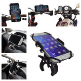 #1 Motorcycle Phone Mount & FREE Cell Phone Lanyard! Sleek Handlebar Holder f... - Chickadee Solutions - 1