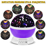 3 Modes Rotating Star Light Projector Hallomall 4LED Romantic Night Lamp Proj... - Chickadee Solutions - 1