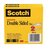 Scotch Double Sided Tape 1/2 x 1296 Inches 3-Inch Core 2 Rolls (665-2P12-36) - Chickadee Solutions