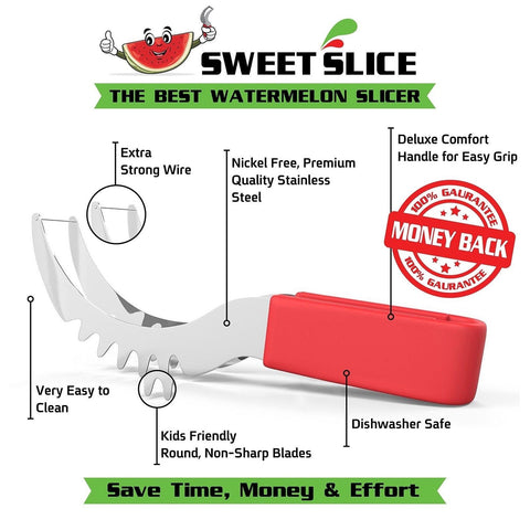 Watermelon Slicer And Server Perfect Kitchen Gadget Premium Ergonomic Design Chickadee