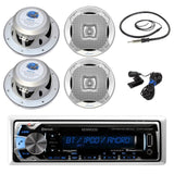 New Kenwood In Dash Marine Boat Yacht Bluetooth Digital USB AUX iPod iPhone A... - Chickadee Solutions - 1