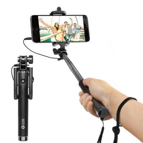 selfie stick carloue battery free wired selfie stick for iphone se 6s 6s pl chickadee. Black Bedroom Furniture Sets. Home Design Ideas