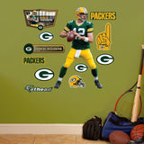 NFL Green Bay Packers Aaron Rodgers Fathead Wall Decal Junior - Chickadee Solutions