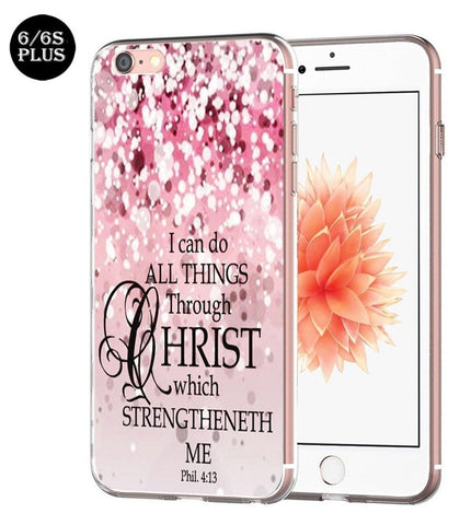Iphone 6S Plus Case bible verse protective Apple Iphone 6 Plus Case christian... - Chickadee Solutions - 1