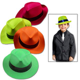 Toy Cubby Bright Plastic Panama Gangster Neon Colored Hats 24 Pcs - Chickadee Solutions - 1
