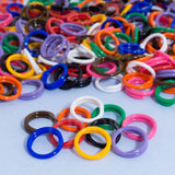 "30 Pack Spiral Chicken Poultry Leg Bands Rings - #11 11/16"" size - Mixed Colors - Chickadee Solutions"