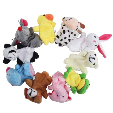 iBUY365 16Pcs Story Time Finger Puppets-10 Animals 6 People Family Members Ed... - Chickadee Solutions - 1