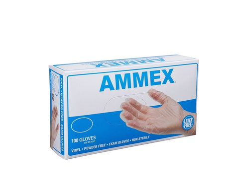 Ammex VPF Vinyl Glove Medical Exam Latex Free Disposable Powder Free Small (B... - Chickadee Solutions - 1