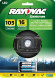 Rayovac Sportsman Xtreme 1W LED K2 Headlight 105 Lumen - Chickadee Solutions