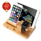 Aerb Bamboo Wood Charge Dock Holder for Apple Watch and Docking Station Cradl... - Chickadee Solutions - 1