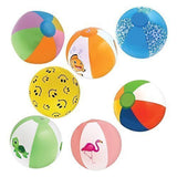 "Inflatable 12"" Beach Balls (18-Pack) - 8 Rainbow Beach Balls 10 Designer; Bir... - Chickadee Solutions - 1"