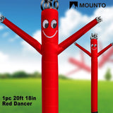 MOUNTO 20ft 18inch Air Puppet Dancer Tube Man Fly Guy Puppet Dancer (Red) Red - Chickadee Solutions