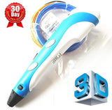 7TECH 3D Printing Pen with LCD Screen Ver.2015 light Blue Free Spatula Included - Chickadee Solutions - 1