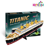 3D PUZZLE TITANIC BOAT Royal Mail Ship (JP Morgan's Marine) 3D-Puzzle-Place C... - Chickadee Solutions - 1
