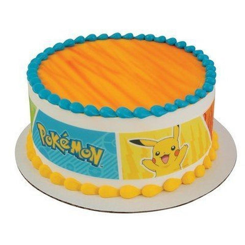 Pokemon - Party Edible Icing Image Cake Border Strips - Chickadee Solutions - 1