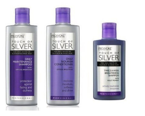 Pro:Voke Set Of 3 - Touch Of Silver - Silver Daily Maintenance Shampoo 200Ml ... - Chickadee Solutions