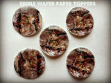 12 REAL CAMO CAMOUFLAGE WOODLAND TREES PRINT PRECUT EDIBLE CUPCAKE TOPPERS 1.... - Chickadee Solutions