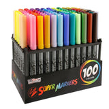 Super Markers Set with 100 Unique Marker Colors - Universal Bullet Point Tips... - Chickadee Solutions - 1
