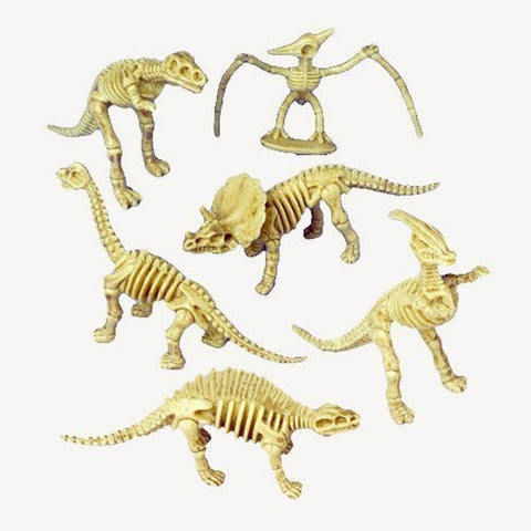 US Toy - Assorted Dinosaur Skeleton Toy Figures Made of Plastic (2-Pack of 12) - Chickadee Solutions