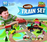 Kids Destiny Wooden Train Set for Thomas and Brio 50 Pieces - Chickadee Solutions - 1