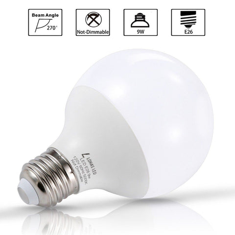 Lohas 9 Watt Led Globe Bulb G25 Led Bulbs 60Watt Vanity Light Bulbs Equivalen... Chickadee ...