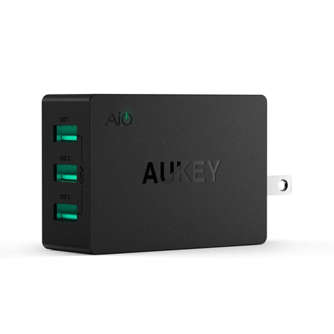 AUKEY 30W / 6A USB Travel Wall Charger Adapter with AiPower Adaptive Charging... - Chickadee Solutions - 1