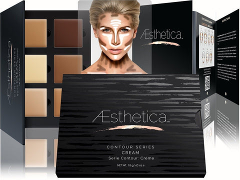 Aesthetica Cosmetics Cream Contour and Highlighting Makeup Kit - Contouring F... - Chickadee Solutions - 1