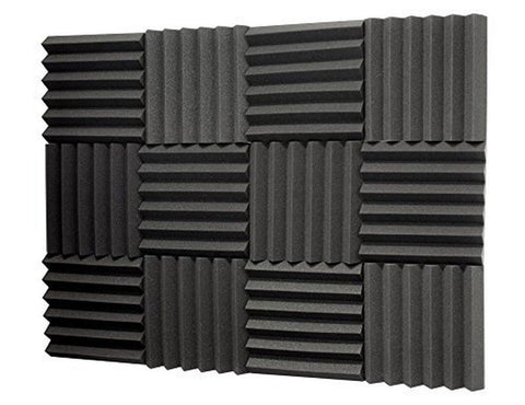 "(12 Pk) 2""x12""x12"" Soundproofing Foam Acoustic Tiles Studio Foam Sound Wedges - Chickadee Solutions - 1"