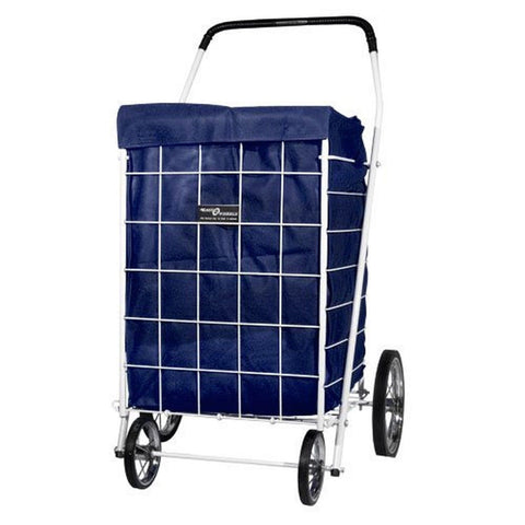 1 X Cart Liner with Hood for Laundry & Shopping - Dark Blue - Chickadee Solutions