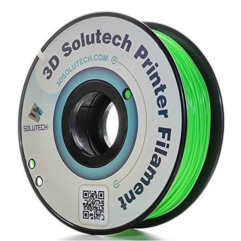 3D Solutech Apple Green 1.75mm PLA 3D Printer Filament 2.2 LBS (1.0KG) - 100%... - Chickadee Solutions - 1