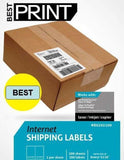 "1000 Half Sheet - Best Print Shipping Labels - 5-1/2"" x 8-1/2"" (Same size as ... - Chickadee Solutions"