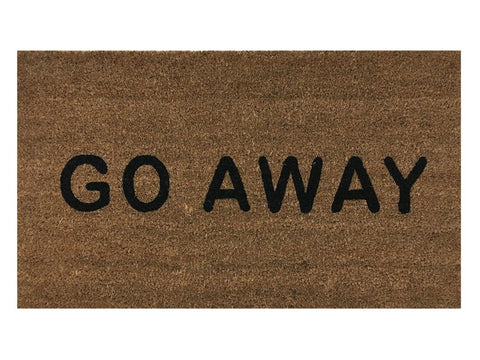 """Go Away"" Doormat by Castle Mats Size 18 x 30 inches Non-Slip Durable Made Us... - Chickadee Solutions - 1"