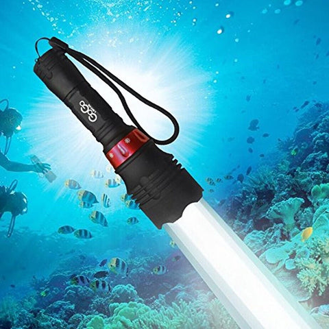 Gogolighting Powerful 60M Waterproof 2600 Lm CREE XM-L T6 LED Underwater Divi... - Chickadee Solutions - 1