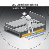 La Farah Motion Activated Bed Light Flexible LED Strip Sensor Night Lights fo... - Chickadee Solutions - 1