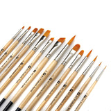 AIT Art Paint Brushes Set of 14 Excellent Variety of Brush Shapes for All Nee... - Chickadee Solutions - 1