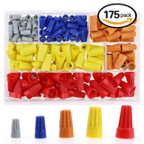 Hilitchi 175Pcs Electrical Wire Connection Screw Twist Connector Cap w/ Sprin... - Chickadee Solutions - 1