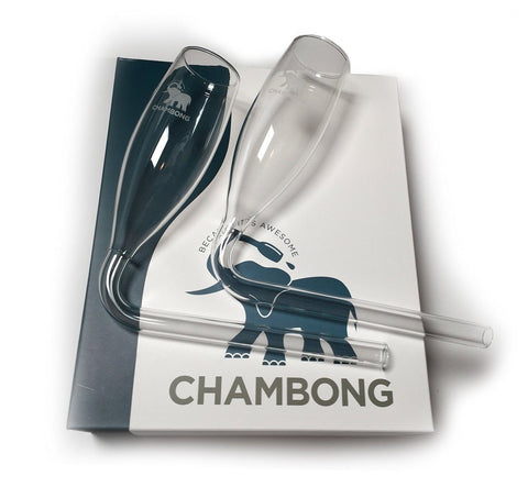 Chambong (2-pack) - Glassware for rapid Champagne consumption - Chickadee Solutions - 1