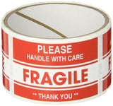 TapeCase SHIPLBL-040-50 Fragile Thank You Label (50 Per Pack) - Chickadee Solutions