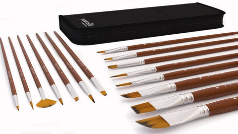 15 Piece Art Paint Brushes Set for Acrylic Oil Watercolor Face Painting Gouac... - Chickadee Solutions - 1