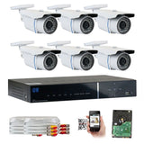 GW Security 8-Channel HD-TVI 1080P Complete Security System with (6) x True H... - Chickadee Solutions - 1