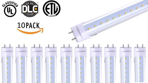 "(10 Pack) T8 LED Tube Light 4ft 48""18W5000K (Day Light) 2000 Lumens Works WIT... - Chickadee Solutions - 1"