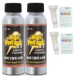 2 Bottles High Voltage Detox Saliva Cleanser Mouthwash with 2 saliva 4 Panel ... - Chickadee Solutions