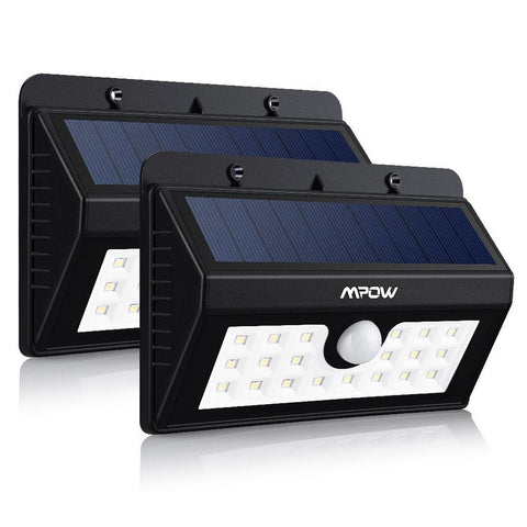 Mpow Super Bright Solar Lights Weatherproof 20 LED Outdoor Motion Sensor Ligh... - Chickadee Solutions - 1
