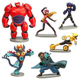 Big Hero 6 Figure Play Set - 6 Pcs Set Hiro Baymax Mech (Red) Go Go Honey Lem... - Chickadee Solutions - 1