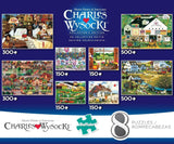 Buffalo Games Charles Wysocki 8-in-1 Collectors Edition Puzzle Multipack - Chickadee Solutions - 1